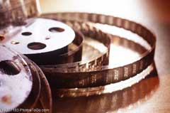 A film reel; Actual size=240 pixels wide